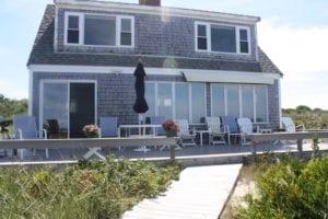 exterior to beach